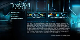 Tron Legacy movie site