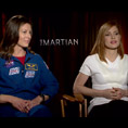 Jessica Chastain & Tracy Caldwell Dyson (The Martian)