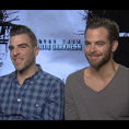 Zachary Quinto & Chris Pine (Star Trek Into Darkness)