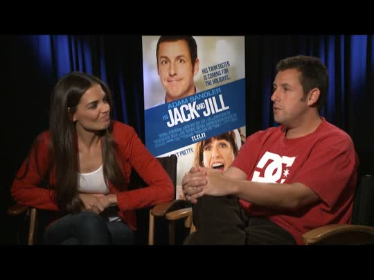 Adam sandler katie holmes jack and jill interview 2011 for Jack and jill full movie free