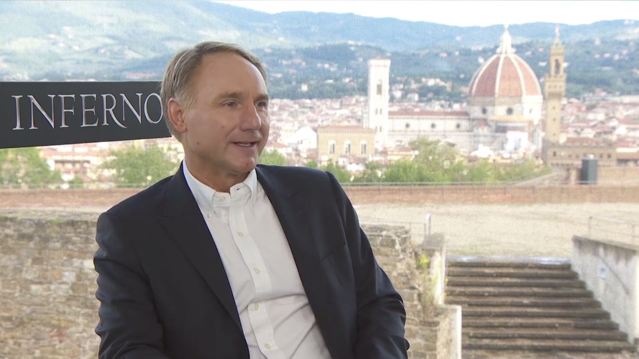 Dan brown interview inferno 2016 movie trailers and for Dans brown