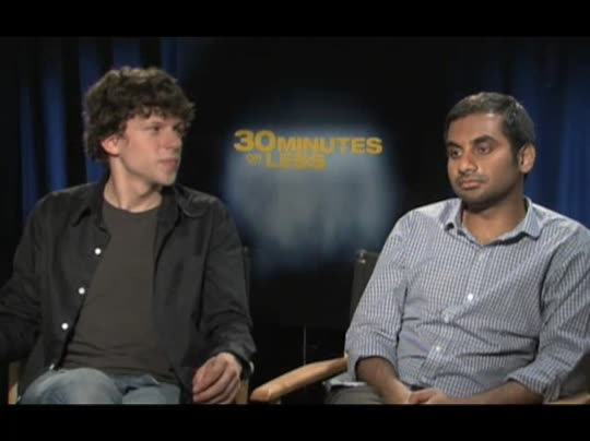 Jesse Eisenberg & Aziz Ansari (30 Minutes or Less ...