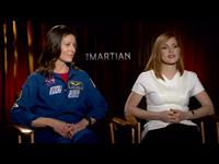 Jessica Chastain & Tracy Caldwell Dyson Interview