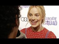 Margot Robbie Suicide Squad Red Carpet Interview Poster