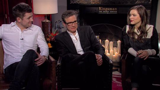 Kingsman The Secret Service Interview Taron Egerton: Taron Egerton, Colin Firth & Sophie Cookson (Kingsman: The