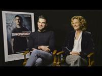 Zachary Quinto & Melissa Leo Interview - Snowden Poster