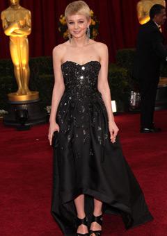 Carey Mulligan in a Prada gown