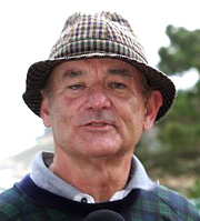Bill Murray at a recent golf tournament
