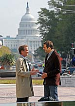 Kiefer Sutherland filming 24 in Washington DC