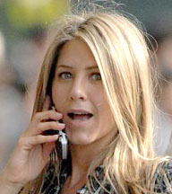 Jennifer Aniston on movie set