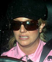 Britney Spears in her car