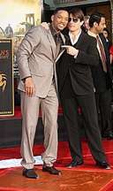 Will Smith and Tom Cruise at Grauman's Chinese Theatre