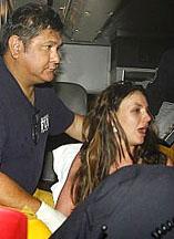 Britney in ambulance