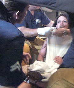 Britney Spears restrained in ambulance