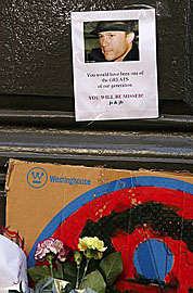 Memorial to Heath Ledger at his NYC apartment