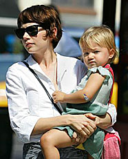 Michelle Williams and Matilda September 2007