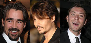 Johnny Depp, Colin Farrell and Jude Law