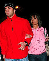 Britney's mom Lynne & brother Bryan leaving the hospital