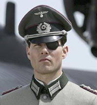 Tom Cruise as a Nazi officer