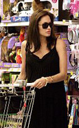 Angelina Jolie shopping for toys in Cannes