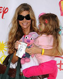Denise Richards and one of her daughters