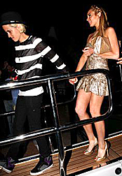 Samantha Ronson and Lindsay Lohan in Cannes
