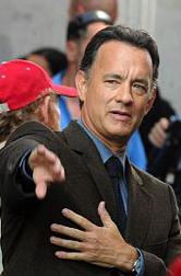 Tom Hanks filming
