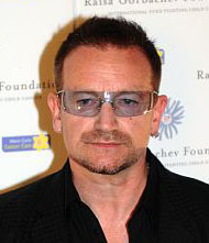 Brangelina ask Bono to be godfather