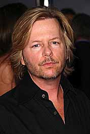 A pensive looking David Spade at the premiere of The House Bunny