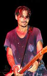 Johnny Depp in concert