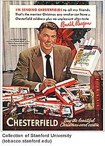 Ronald Reagon Tobacco ad