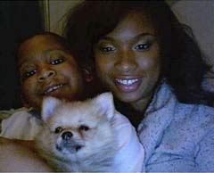 Jennifer Hudson and her nephew, Julian, in a Myspace page photo