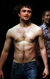 Daniel Radcliffe during Equus curtain call
