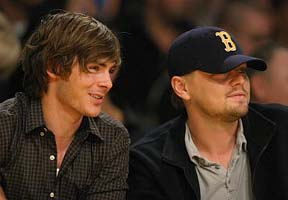 Zac Efron and Leo DiCaprio – Basketball buds