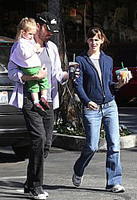 Ben Affleck with Jennifer Garner and their daughter Violet