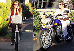 Miley and Billy Ray Cyrus – lawbreakers!