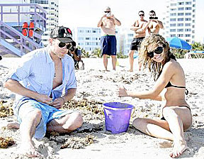 Kellan Lutz and AnnaLynne McCord on vacation in Miami