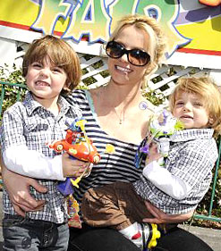 Britney Spears and sons at Disneyworld