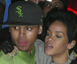 Chris Brown and Rihanna in January 2009