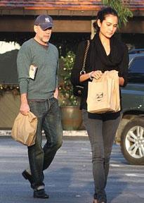 Bruce Willis and Emma Waring