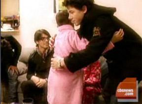 Jonas Brothers give terminally ill girl a hug
