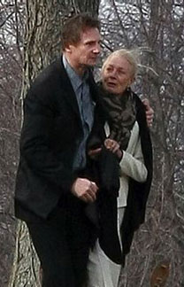 Liam Neeson and Natasha's mother, Vanessa Redgrave at the funeral