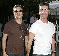 Ryan Seacrest and Simon Cowell have lunch together