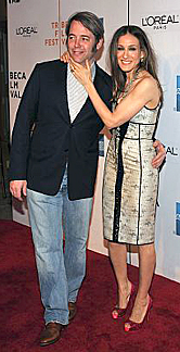 Matthew Broderick and Sarah Jessica Parker on April 27, 2009
