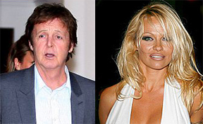 Sir Paul Mccartney Pam Anderson