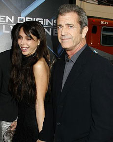 Mel Gibson with girlfriend