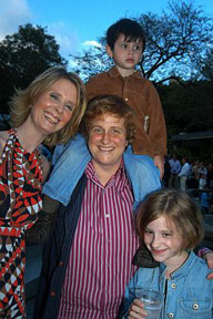 Cynthia Nixon, her children and fiancée