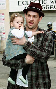 Joel Madden and daughter Harlow in February 2009