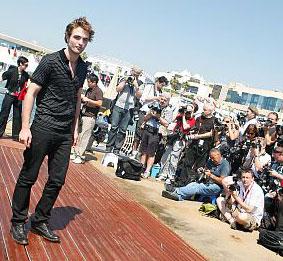 Rob Pattinson at Cannes May 19, 2009