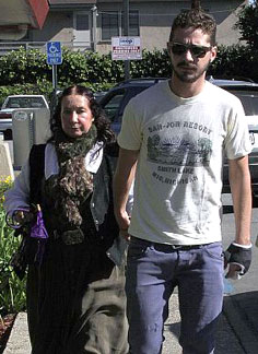 Shia Labeouf with his mother, Shayna